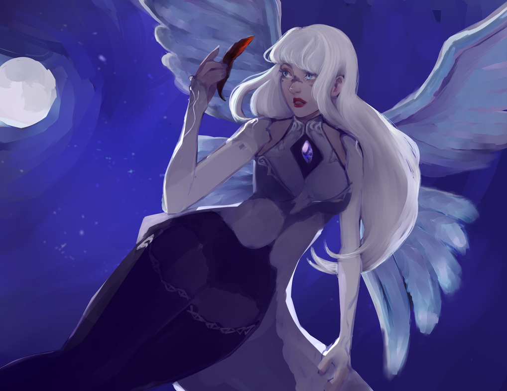 Night Angel by Rainescence