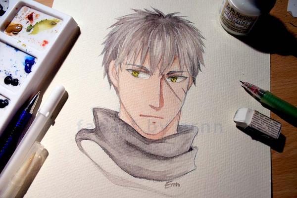 watercolor Doutanuki by ernn