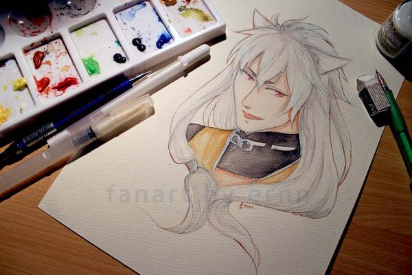 Watercolor Kogitsunemaru by ernn
