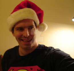 Christmas Brian with Santa hat