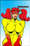 Firestar with Pigtails