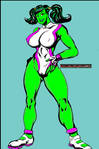 She-Hulk with Pigtails