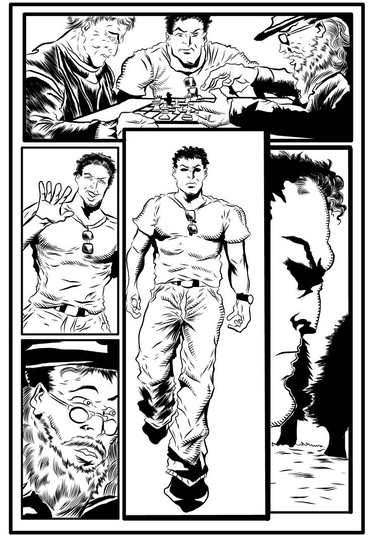 Spiralmind issue 5 Inked completed page 09 by brianrobinson