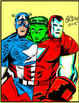 Week 50 Art jam COLOR art Avenger + Three Heads
