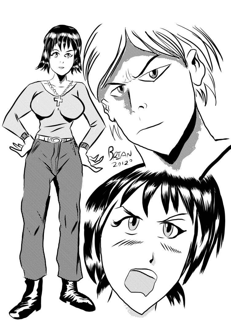 Manga Drawing practice by brianrobinson