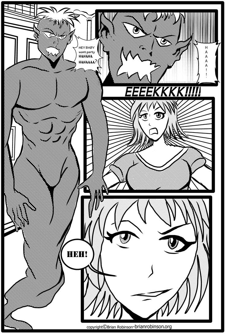 Manga page drawing practice 2 by brianrobinson