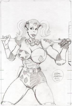 Harley Quinn-Sample-pencils-2013 by brianrobinson