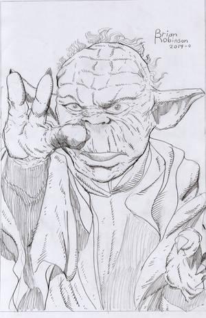 Star Wars Yoda pencil drawing by brianrobinson