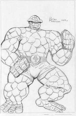 Thing pencil drawing by brianrobinson
