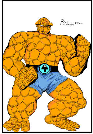 Thing drawing by Brian Robinson Colored by brianrobinson