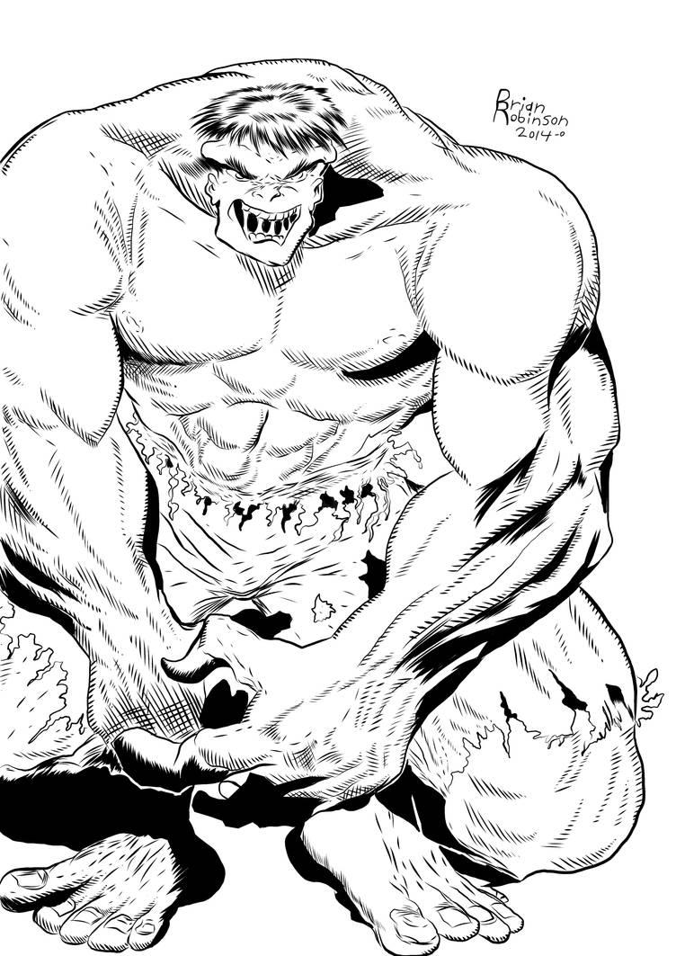 Hulk pencil drawing Inked by Brian Robinson by brianrobinson