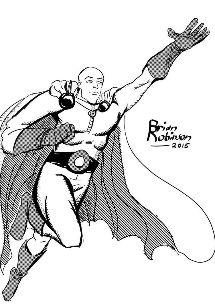 One Punch Man Saitama drawing