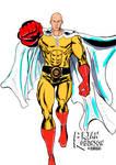 One Punch Man Saitama drawing color