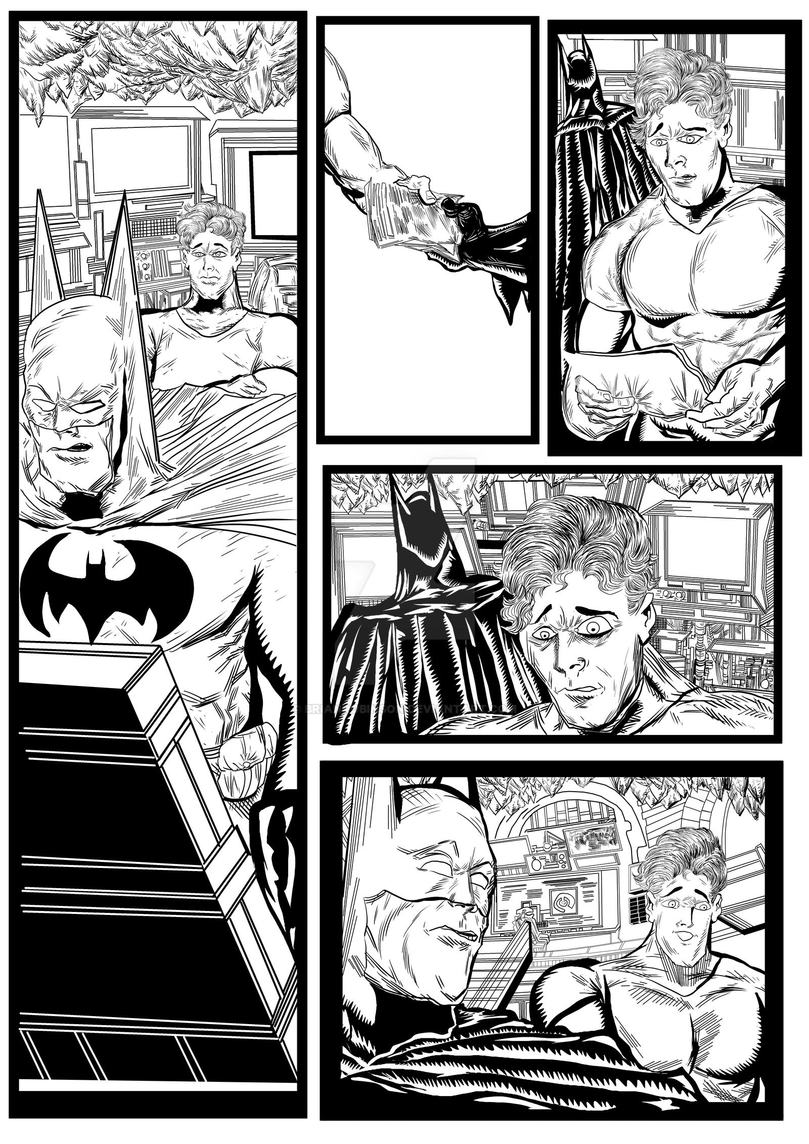 Batman and Robin sequential artwork page 3-2017