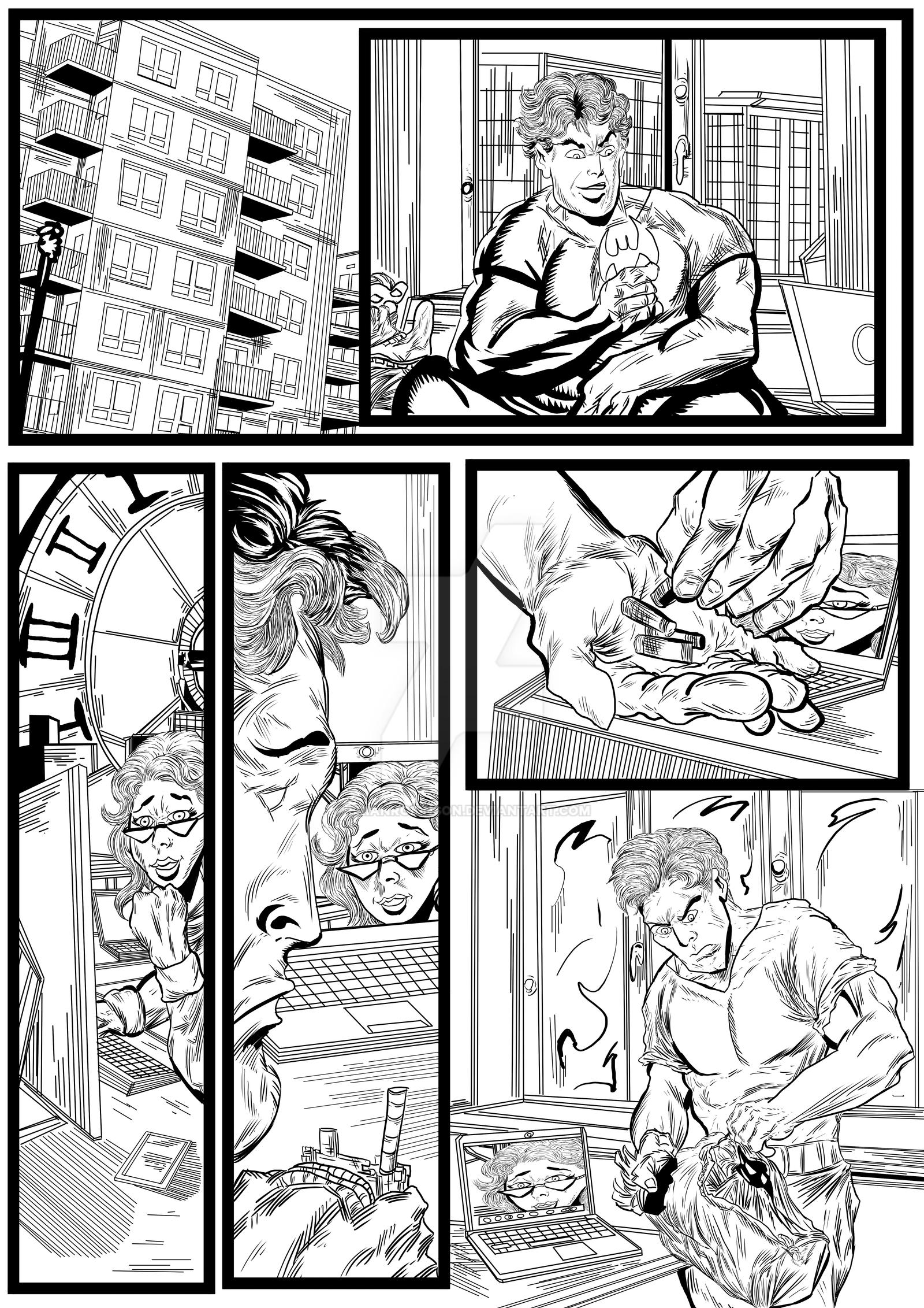 Batman and Robin sequential artwork page 4-2017