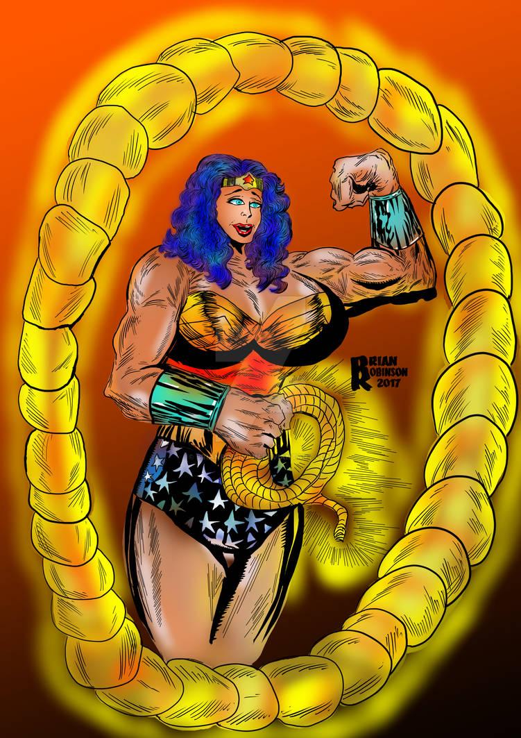 Muscled Wonder Woman drawing sketch