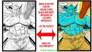 Color vs Black and White artwork question