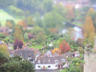 View to Warwick tilt-shift 2 by sunflower983