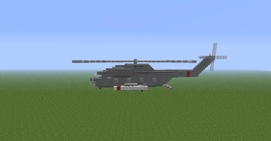 how to build a hospital helicopter in minecraft