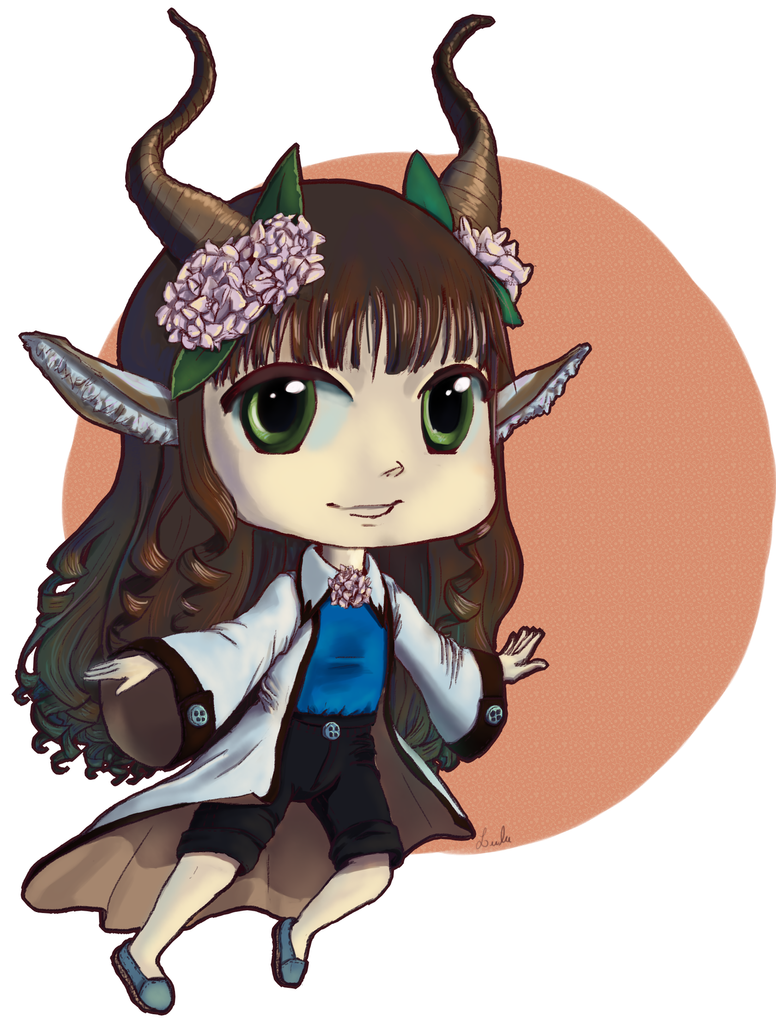 Horns lady by ariellyna