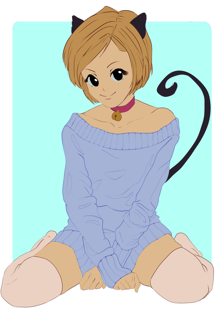 [WIP]Cat girl by ariellyna