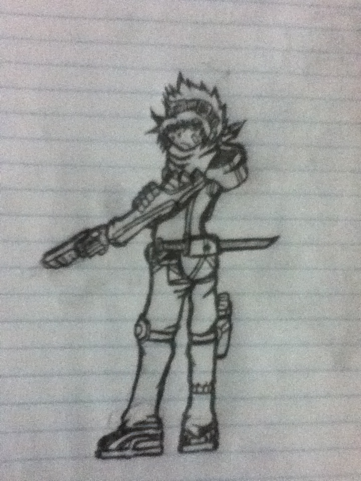 Anime Sword Drawings Anime Sword Gun Guy by