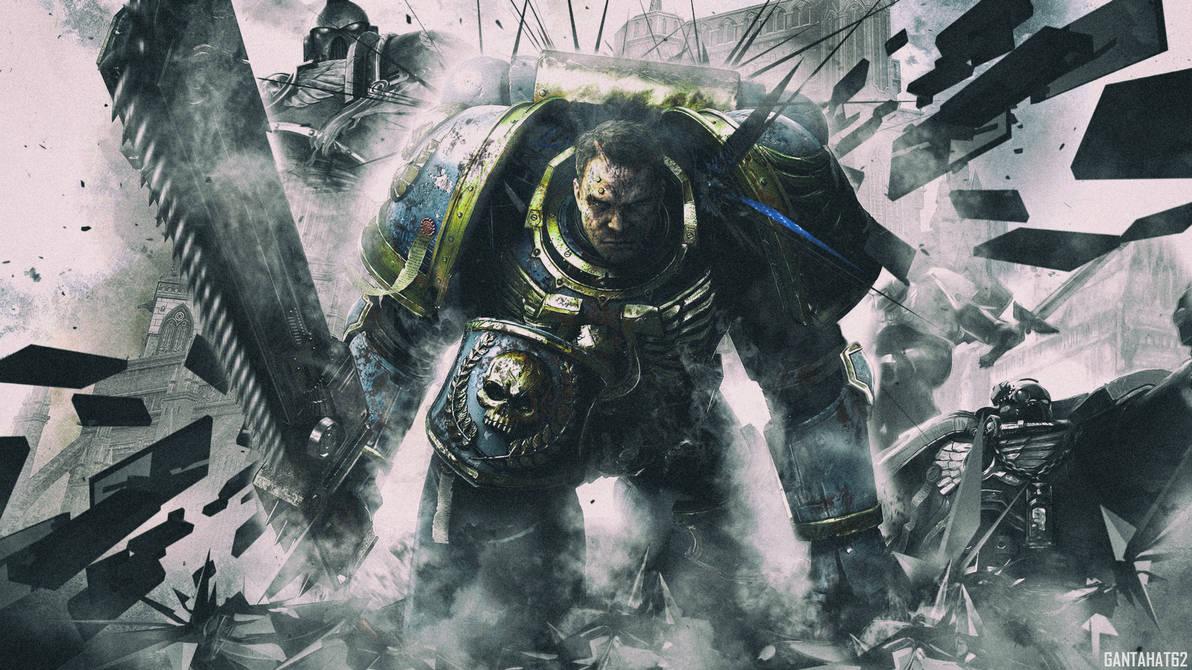 Warhammer 40 000 Space Marine Wallpaper By Gantahat62 On Deviantart