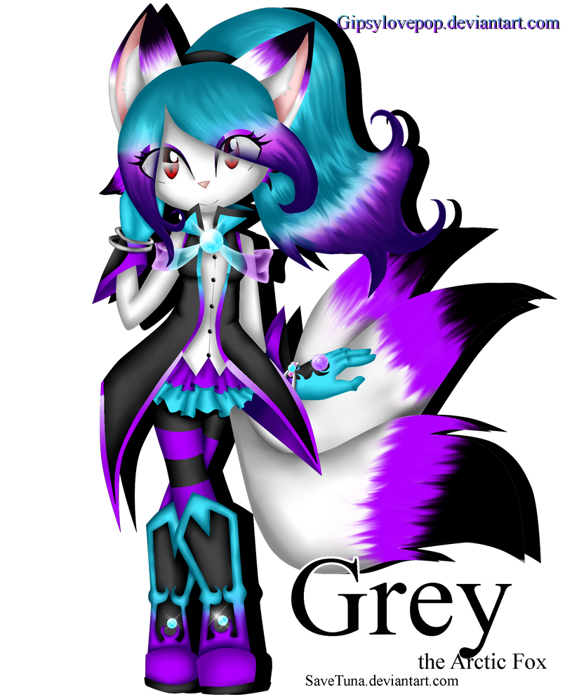:AT: Gray the Artic fox by Gipsylovepop