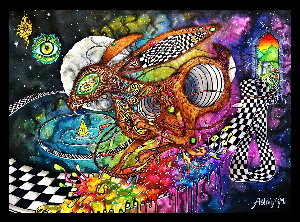 Cosmic Hare A3 by AstralMimi