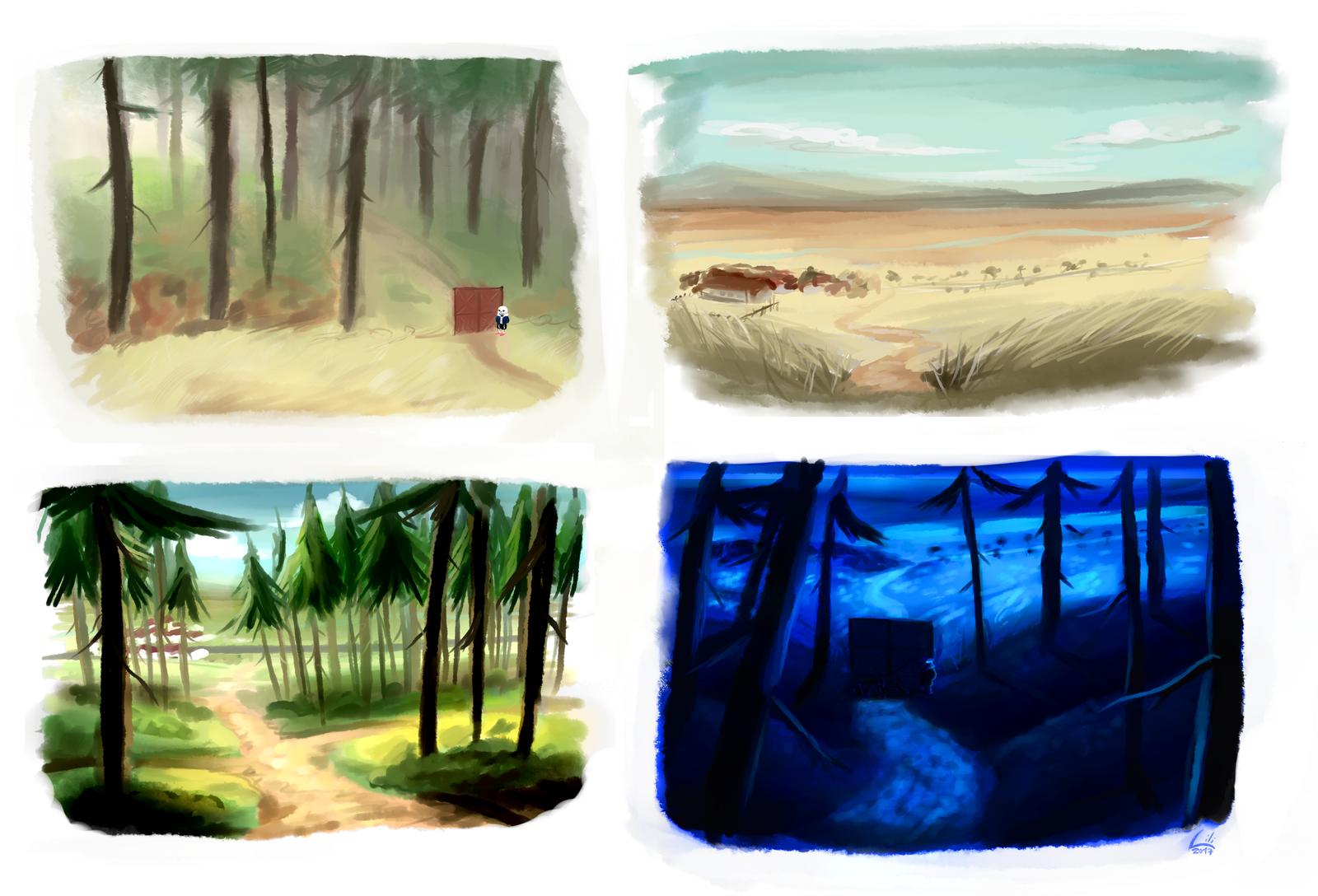 My dream scenes by Lili-Nyklova