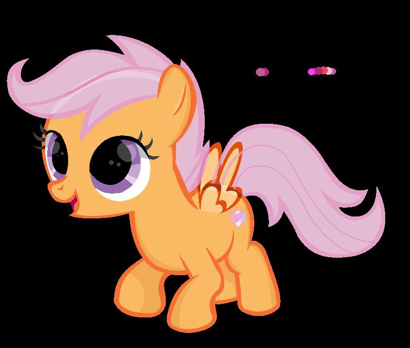 CMC Base #2 ' cute little pegasus filly ' by RachelClara