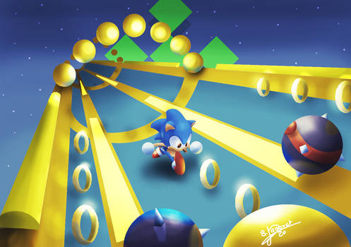 Sonic the hedgehog 2 - Special Stage