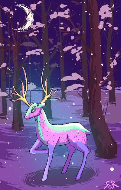 Deer from Same Forest by Vexkex