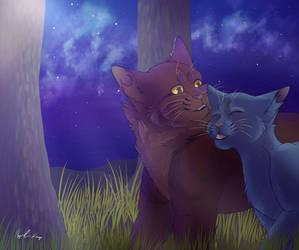 Oakheart x Bluefur (Redraw 2019) by marycarmel