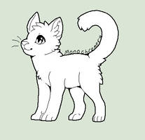 free Cat Base (please credit if used) by monochromera
