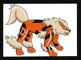Cowboy to rubber Arcanine pt 3 by AxelWolf04