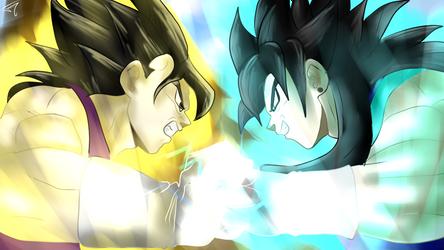 Vegeta VII and Sky sparring