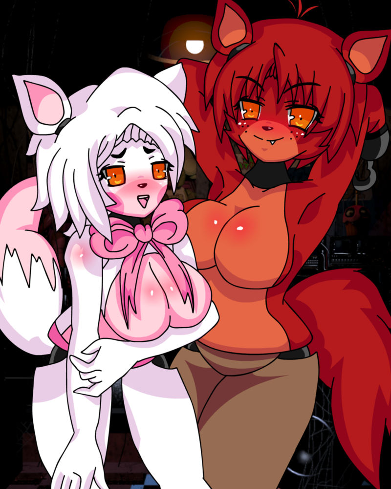 FNiA Foxy And FNiA Mangle In The FNaF Office By