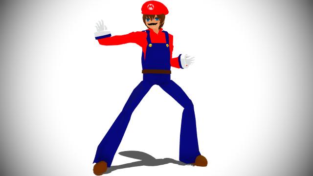 Mario Brawl Pose Render (Humanized Version) by HugoSanchez2000