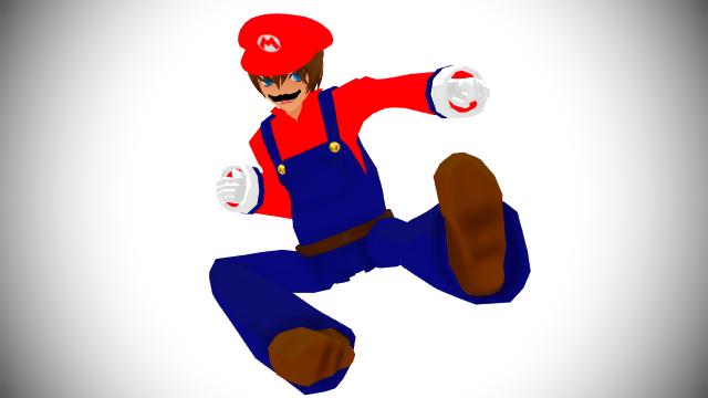 Mario Ultimate Pose Render (Humanized Version) by HugoSanchez2000