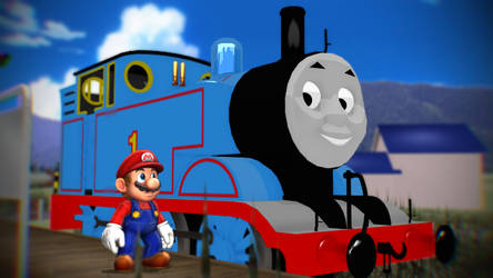 Mario Meets Thomas by HugoSanchez2000