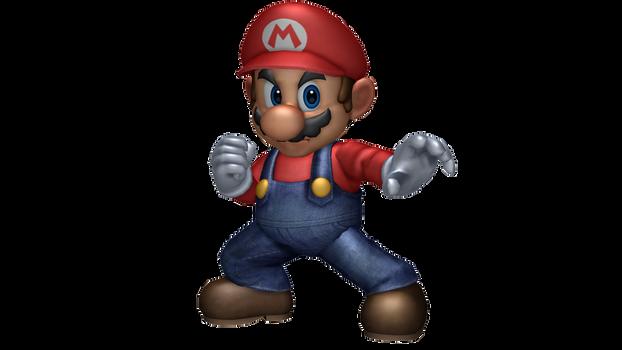 SSBU Mario Smash 4 Render