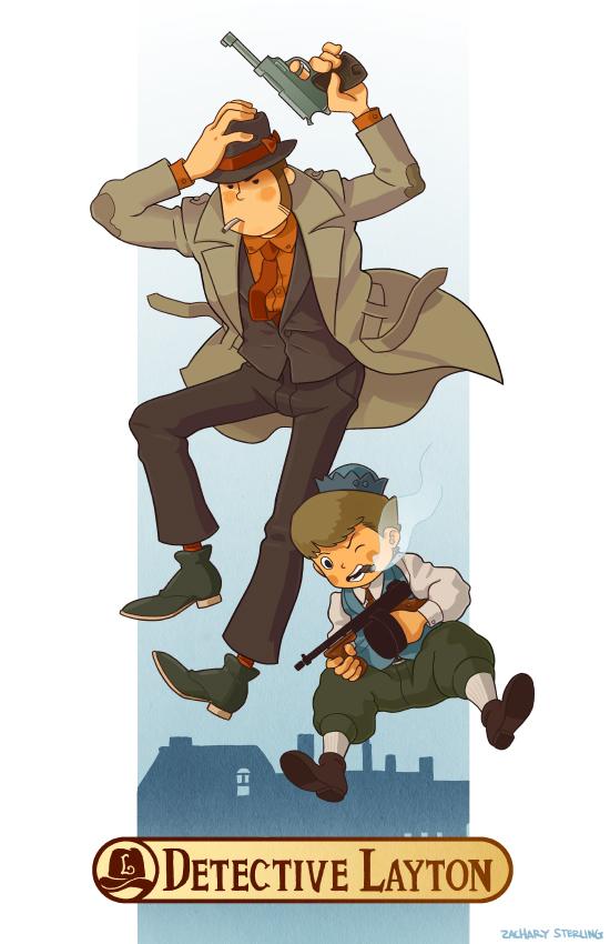 Detective Layton by zacharyxbinks