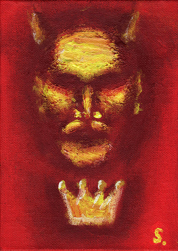 Another Painting of The Devil by zacharyxbinks on DeviantArt