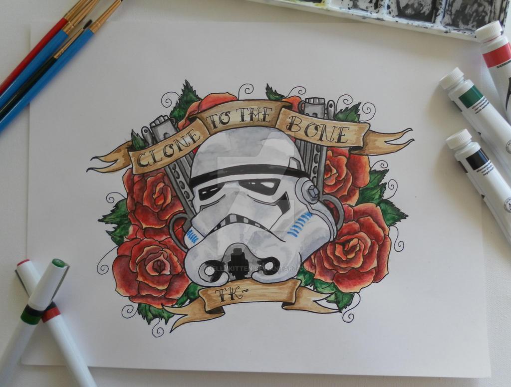 Star Wars Stormtrooper Tattoo Flash By Skellykitten On Deviantart