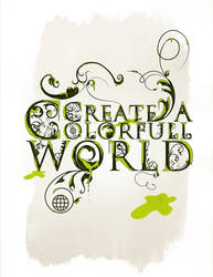 create a colorfull world by tulawena