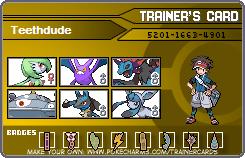 Teethdude' Trainer Card by Teethdude