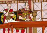 Caesar tutoring Octavian