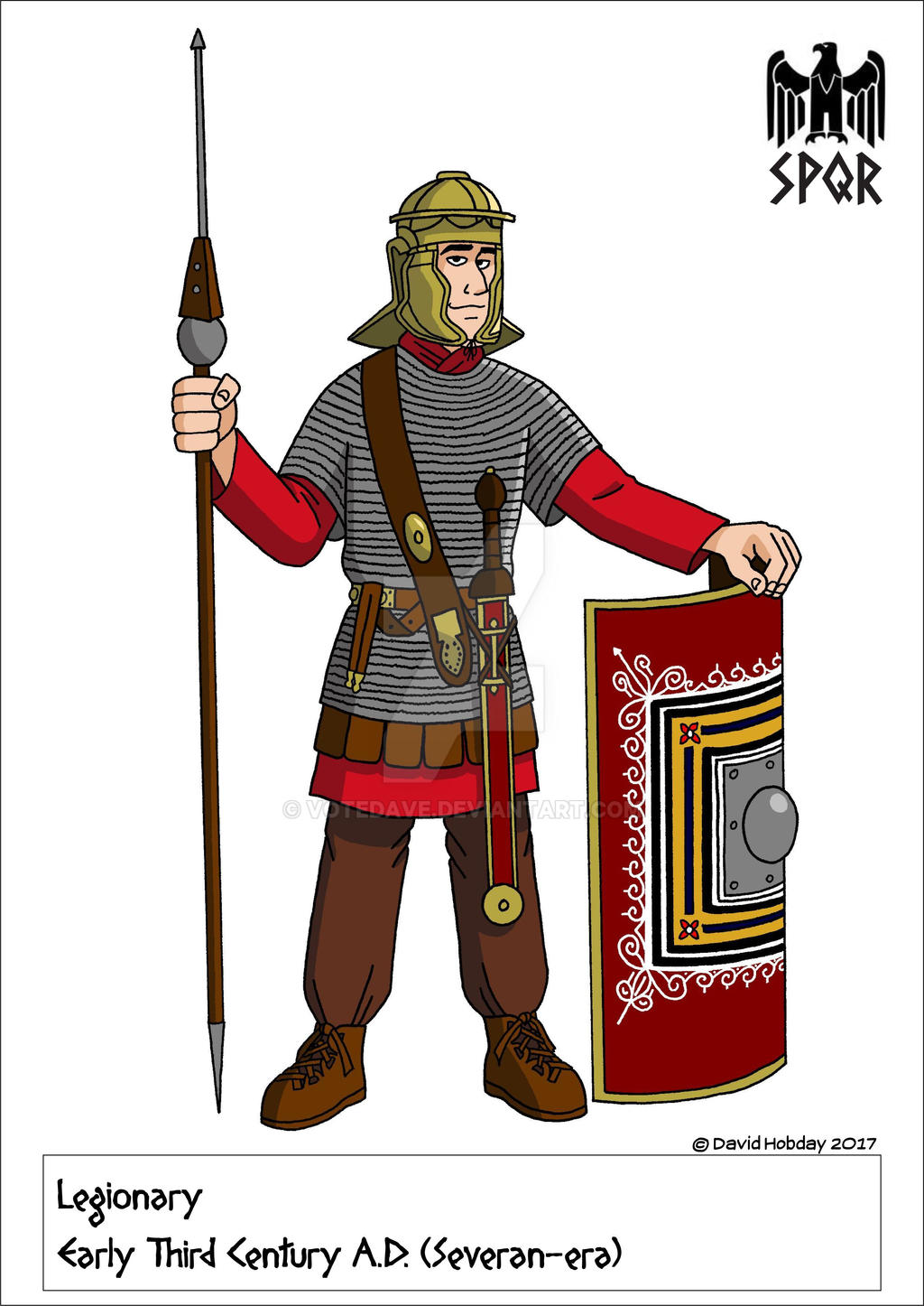 Early Third Century Roman Legionary by VoteDave