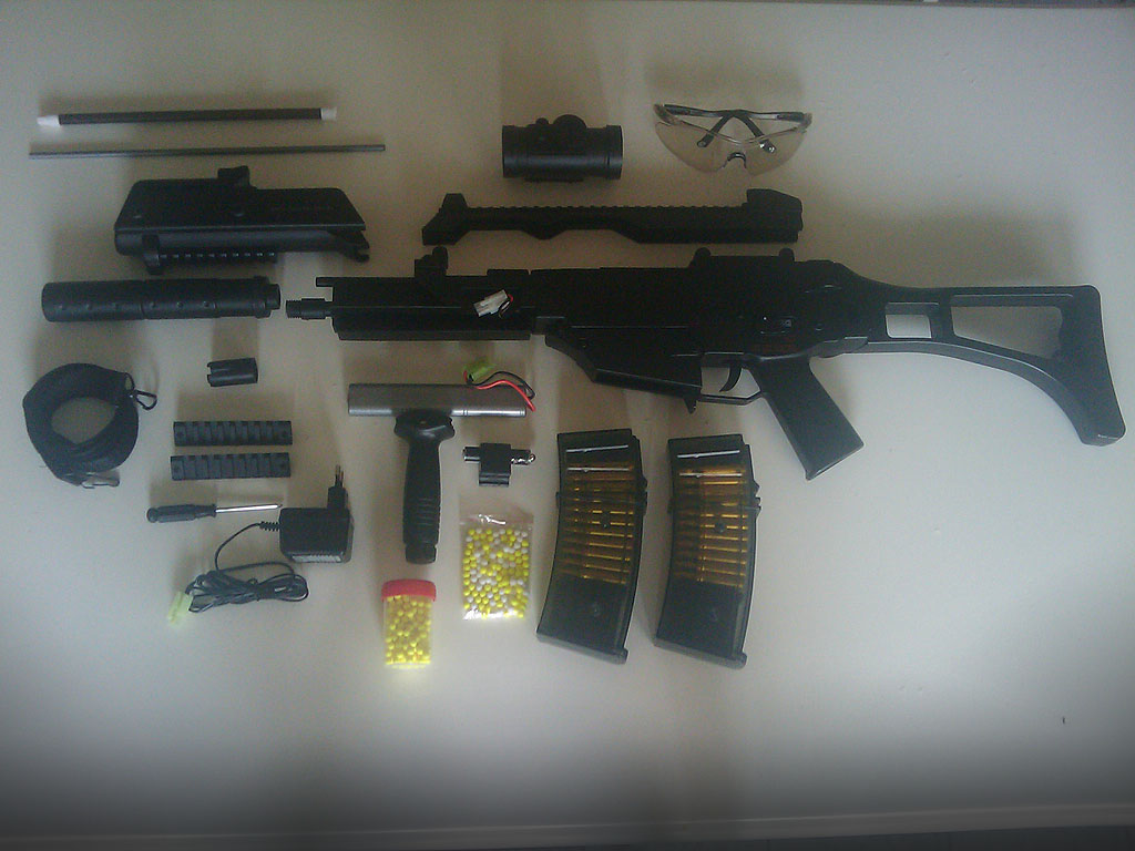 G36C Airsoft Disassembled by MikeGTS